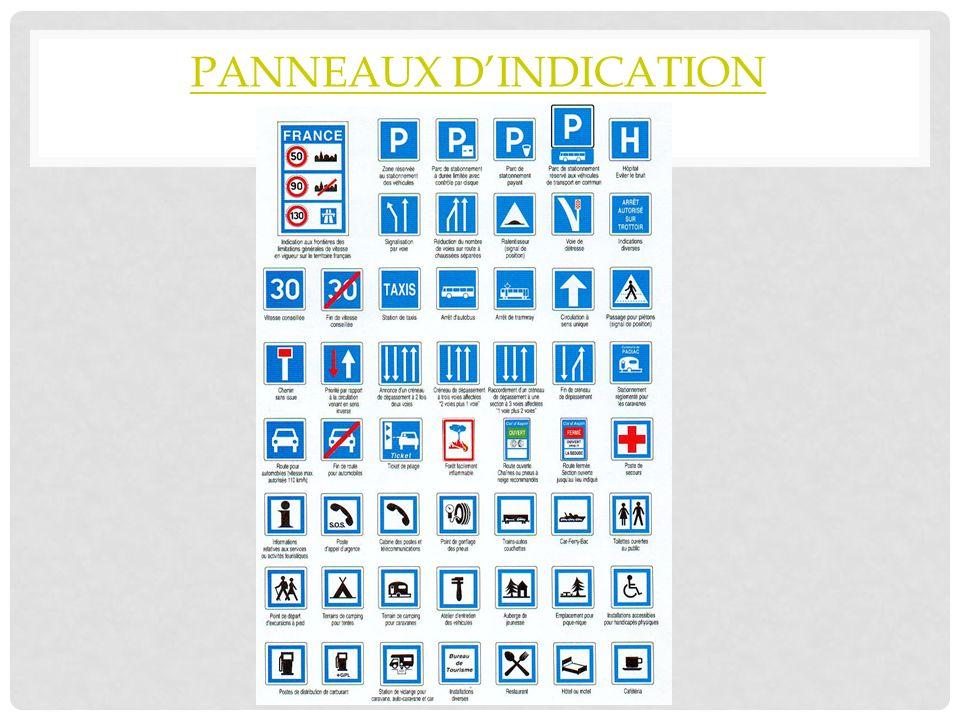 PANNEAUX DINDICATION