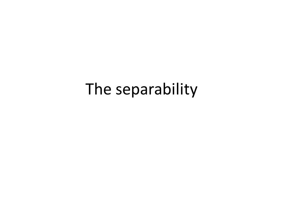 The separability