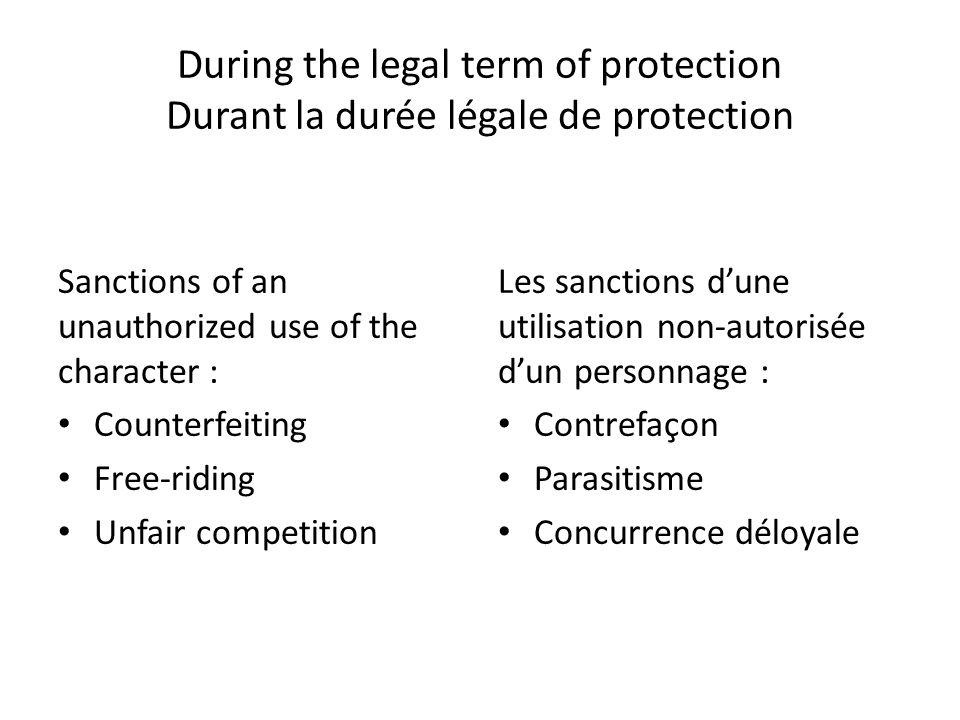 II/ After the expiration of the legal term of protection Après lexpiration de la durée de protection