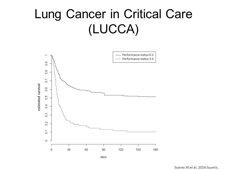 Lung Cancer in Critical Care (LUCCA) Soares M et al. 2014 Soumis.