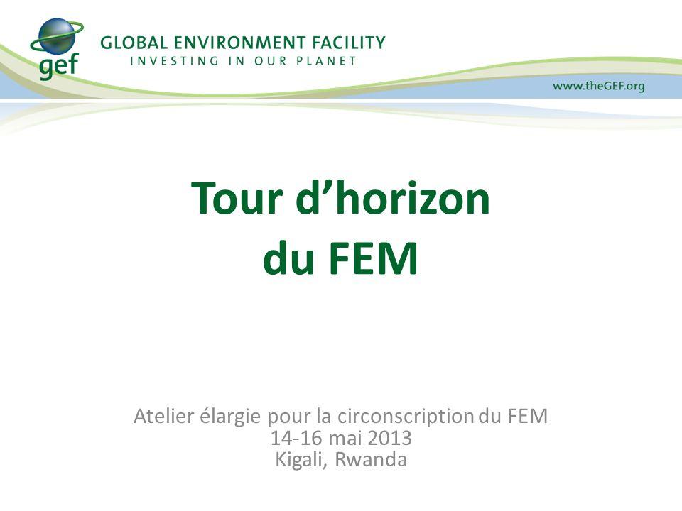 Atelier élargie pour la circonscription du FEM 14-16 mai 2013 Kigali, Rwanda Tour dhorizon du FEM