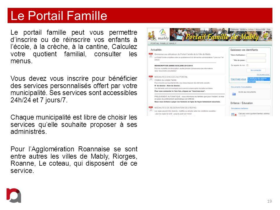 Le Portail Famille Le portail famille peut vous permettre dinscrire ou de réinscrire vos enfants à lécole, à la crèche, à la cantine, Calculez votre q
