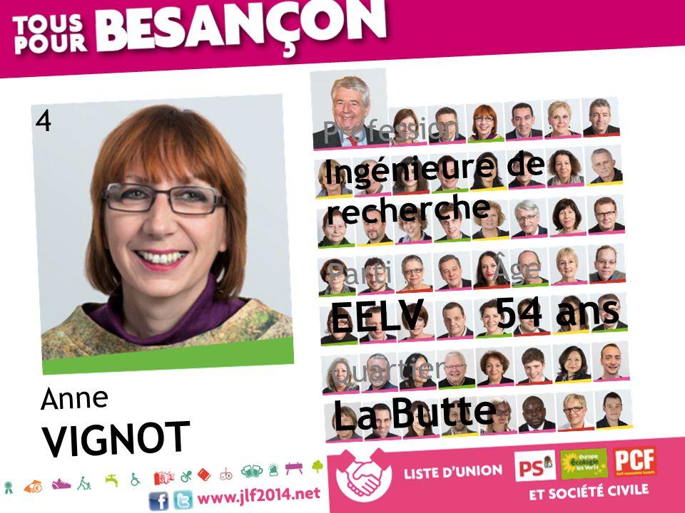 Anne VIGNOT Âge 54 ans Quartier La Butte Parti EELV Profession Ingénieure de recherche 4