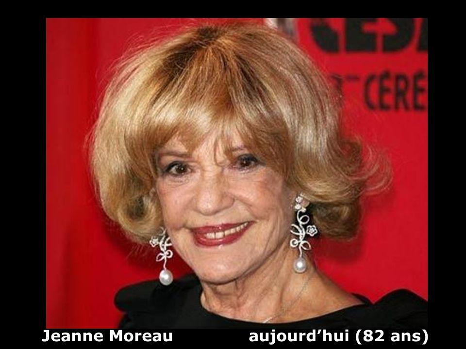Jeanne Moreau (1928) actrice et chanteuse Hier