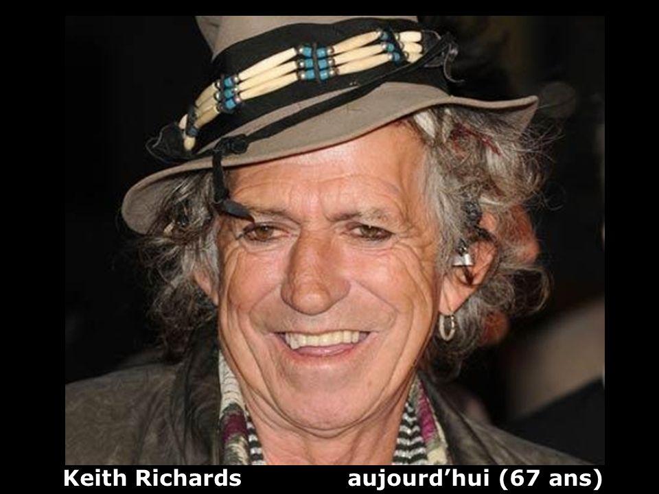 Keith Richards (1943) guitariste et chanteur The Rolling Stones Hier