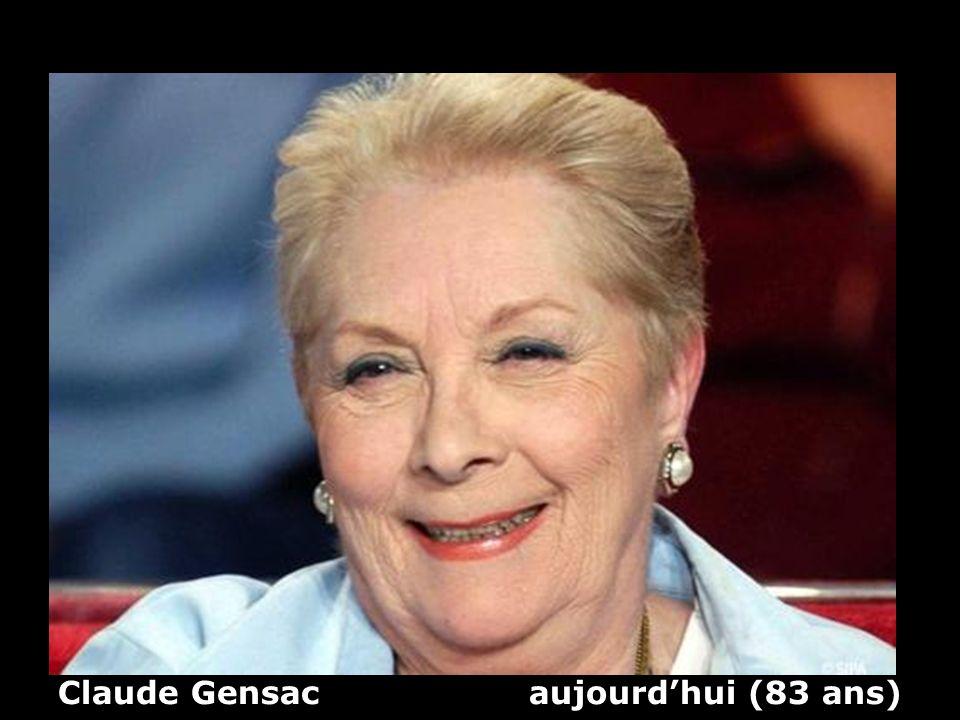 Claude Gensac aujourdhui (83 ans)