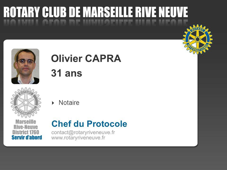 Olivier CAPRA 31 ans Notaire Chef du Protocole