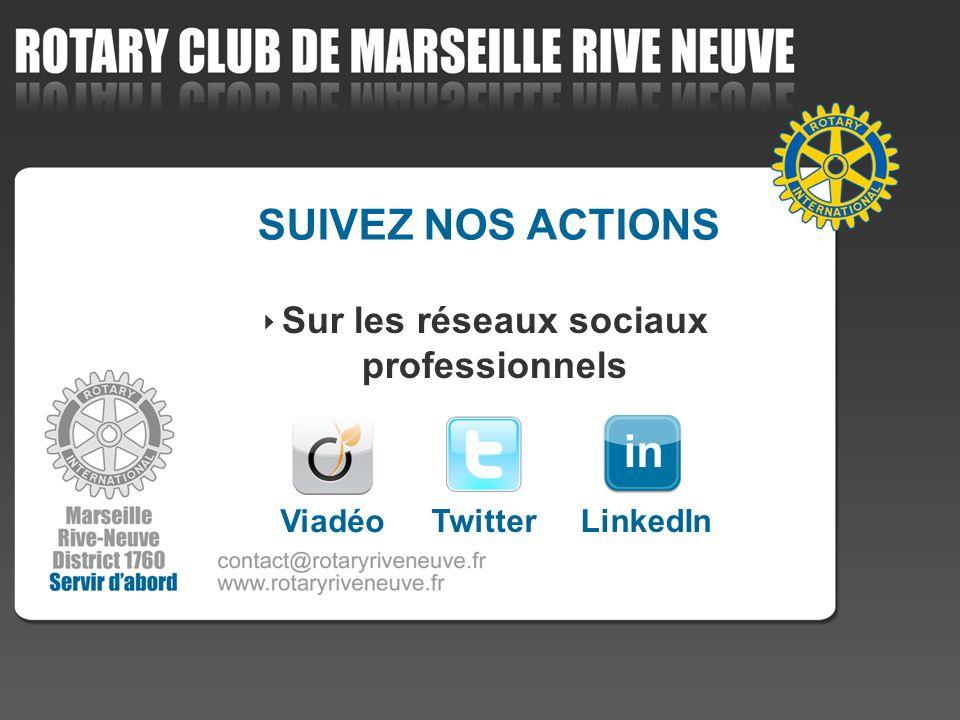 SUIVEZ NOS ACTIONS Sur les réseaux sociaux professionnels Viadéo TwitterLinkedIn