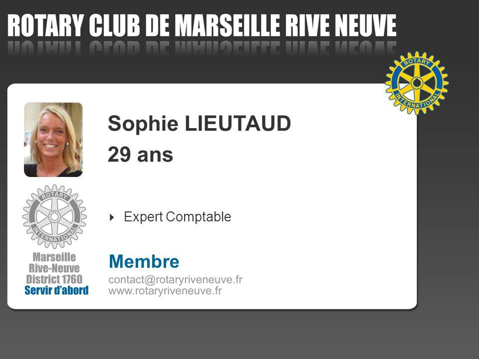 Sophie LIEUTAUD 29 ans Expert Comptable Membre