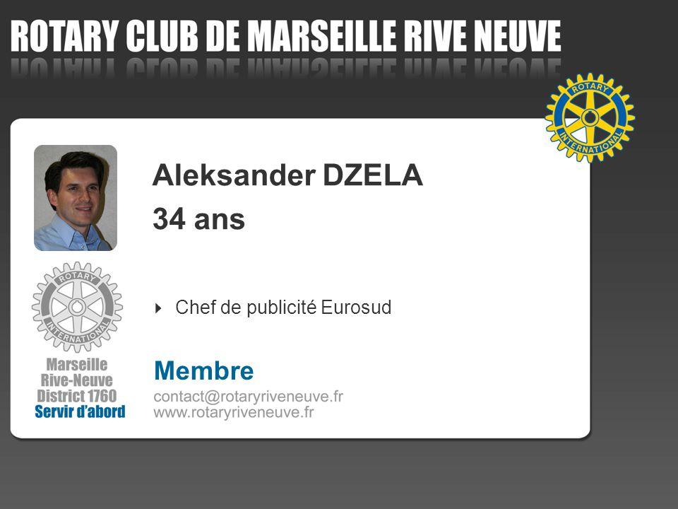 Aleksander DZELA 34 ans Chef de publicité Eurosud Membre