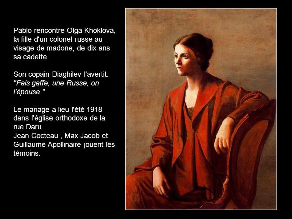 Olga Khokhlova Olga Khokhlova (1891-1955) sa première épouse. 10 ans ensemble (1917-1927) 1923