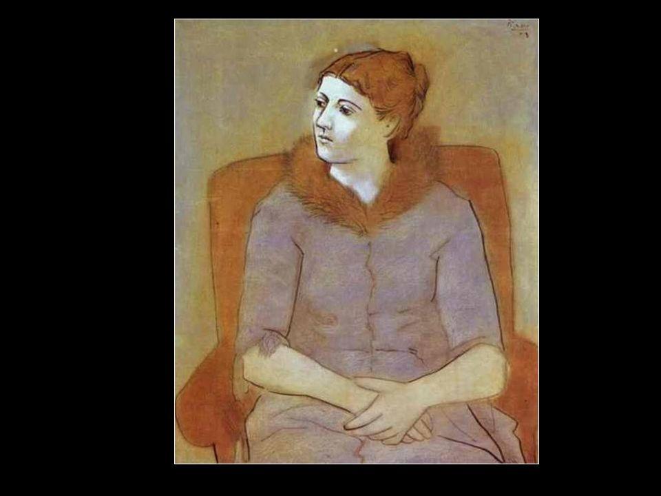 Olga avec une mantille,1917
