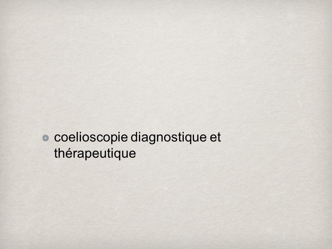indication de coelioscopie diagnostique