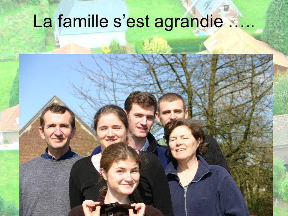 La famille sest agrandie …..