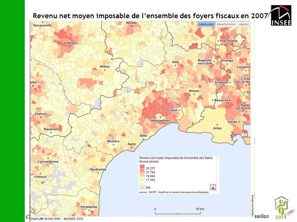 Conf é rence vieillissement et logement 14 juin Montpellier Insee Languedoc-Roussillon Revenu net moyen imposable de lensemble des foyers fiscaux en 2