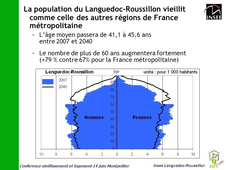 Conf é rence vieillissement et logement 14 juin Montpellier Insee Languedoc-Roussillon La population du Languedoc-Roussillon vieillit comme celle des