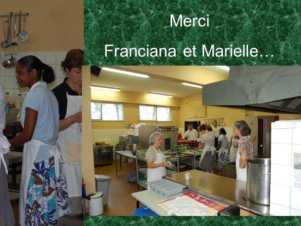 Merci Franciana et Marielle…