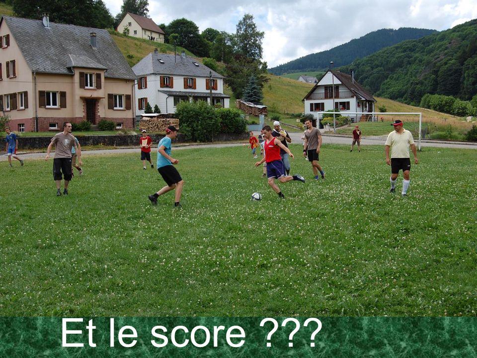 Et le score ???