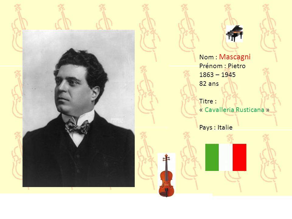 Nom : Liszt Prénom : Franz 1811– 1886 74 ans Titre : « La Campanella » Pays : Hongrie