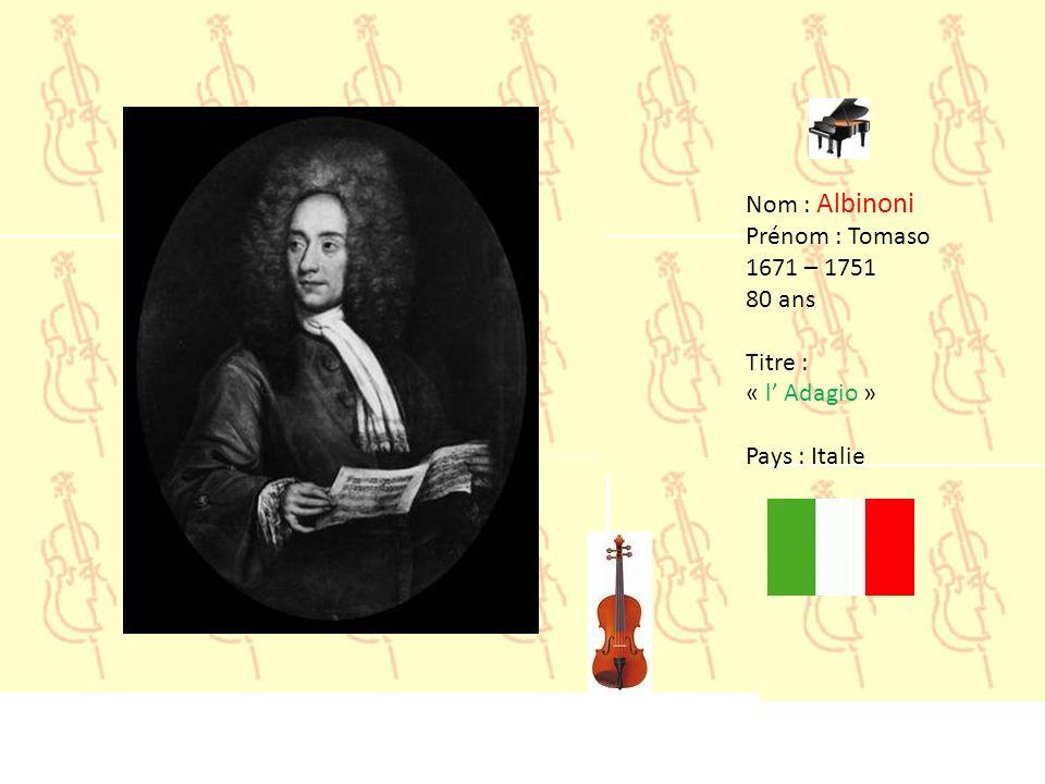160016501700175018001850190019502000 Pachelbel 1653 Albinoni 1671 Vivaldi 1678 Bach 1685 Mozart 1756 Beethoven 1770 Rossini 1792 Schubert 1797 Chopin