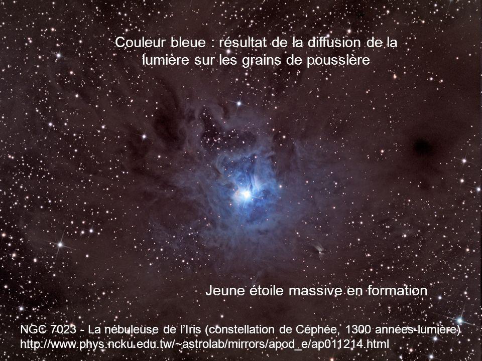 NGC 7023 - La nébuleuse de lIris (constellation de Céphée, 1300 années-lumière) http://www.phys.ncku.edu.tw/~astrolab/mirrors/apod_e/ap011214.html Cou