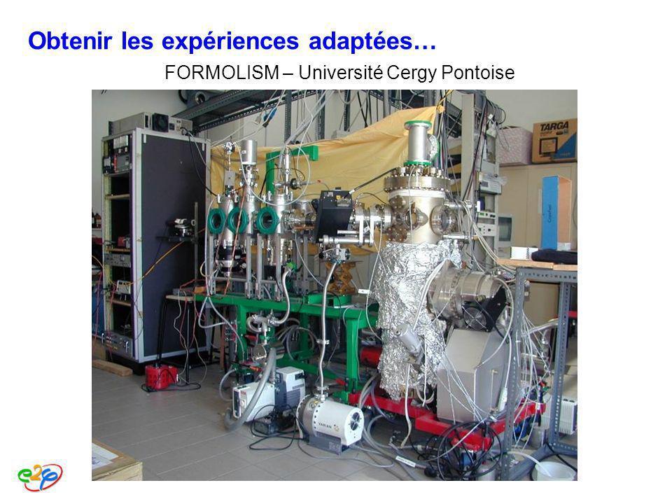 FORMOLISM – Université Cergy Pontoise Obtenir les expériences adaptées…