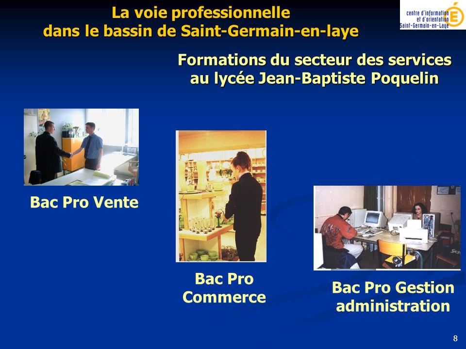 Bac Pro Gestion administration Bac Pro Commerce Formations du secteur des services au lycée Jean-Baptiste Poquelin La voie professionnelle dans le bas