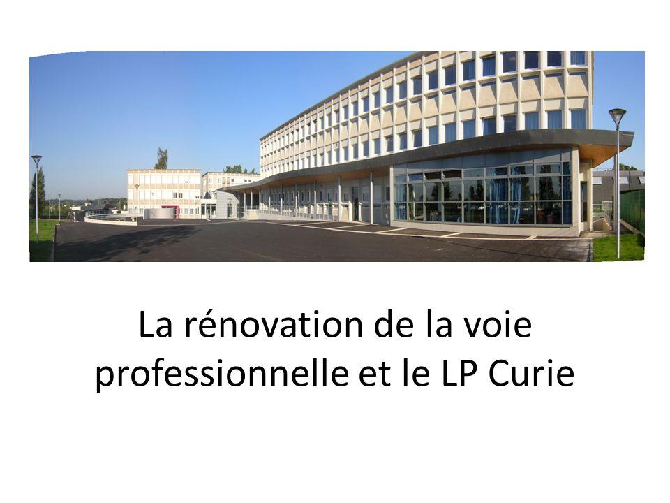La rénovation de la voie professionnelle et le LP Curie