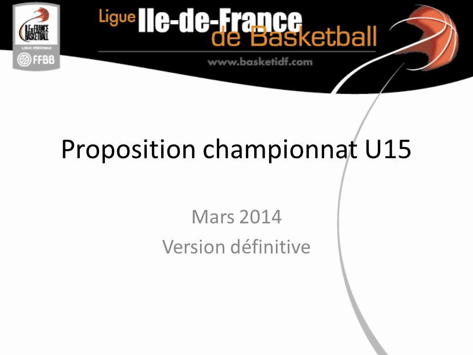 Proposition championnat U15 Mars 2014 Version définitive