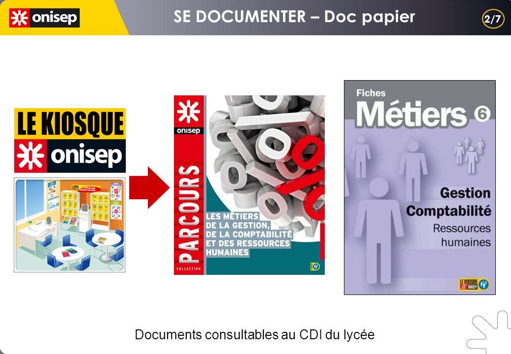 2/7 Documents consultables au CDI du lycée