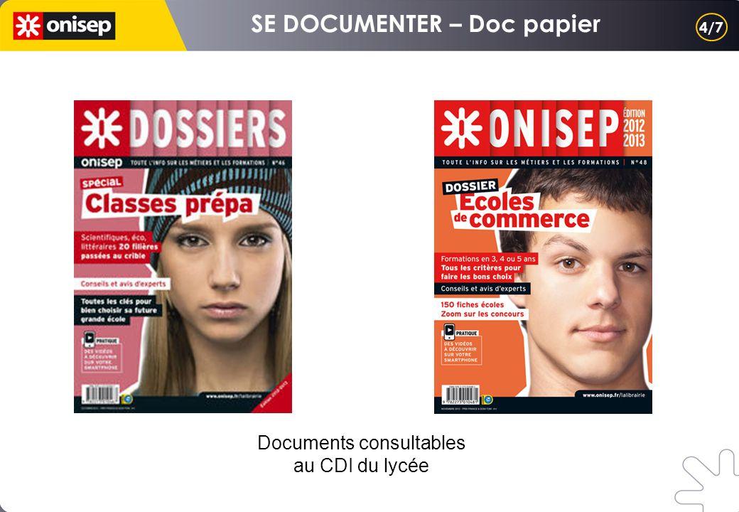 Documents consultables au CDI du lycée 4/7