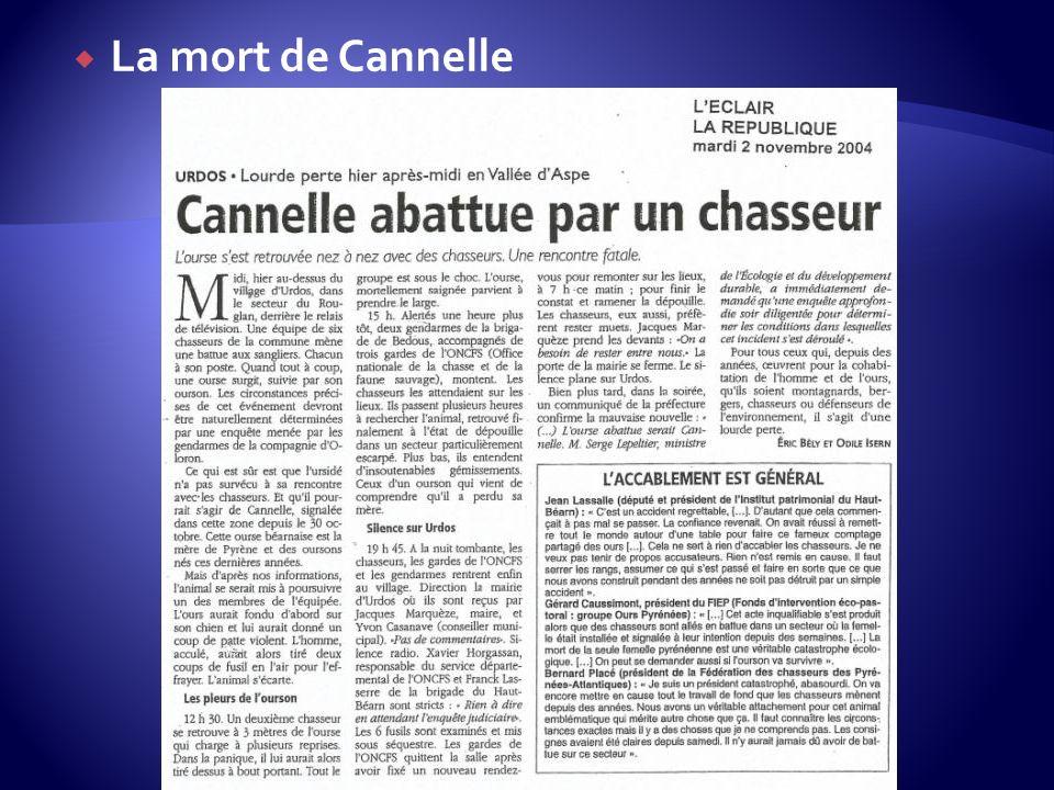 La mort de Cannelle