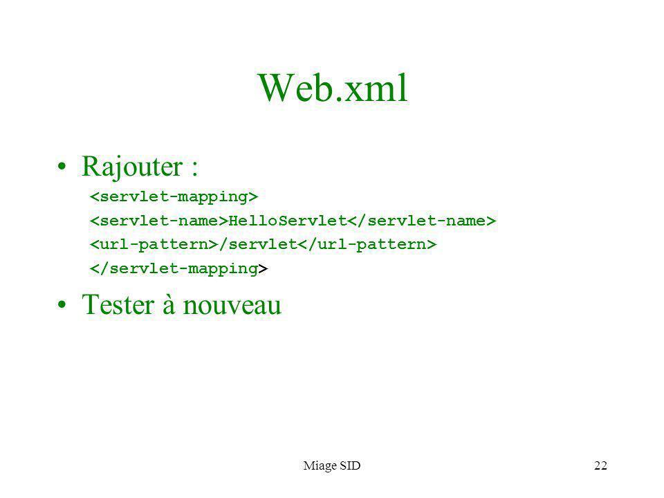 Miage SID23 Page daccueil Ajouter une page daccueil au projet (index.html)