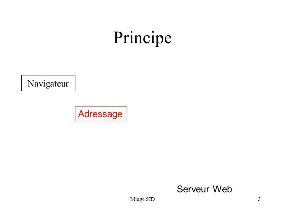Miage SID3 Principe Navigateur Serveur Web Adressage