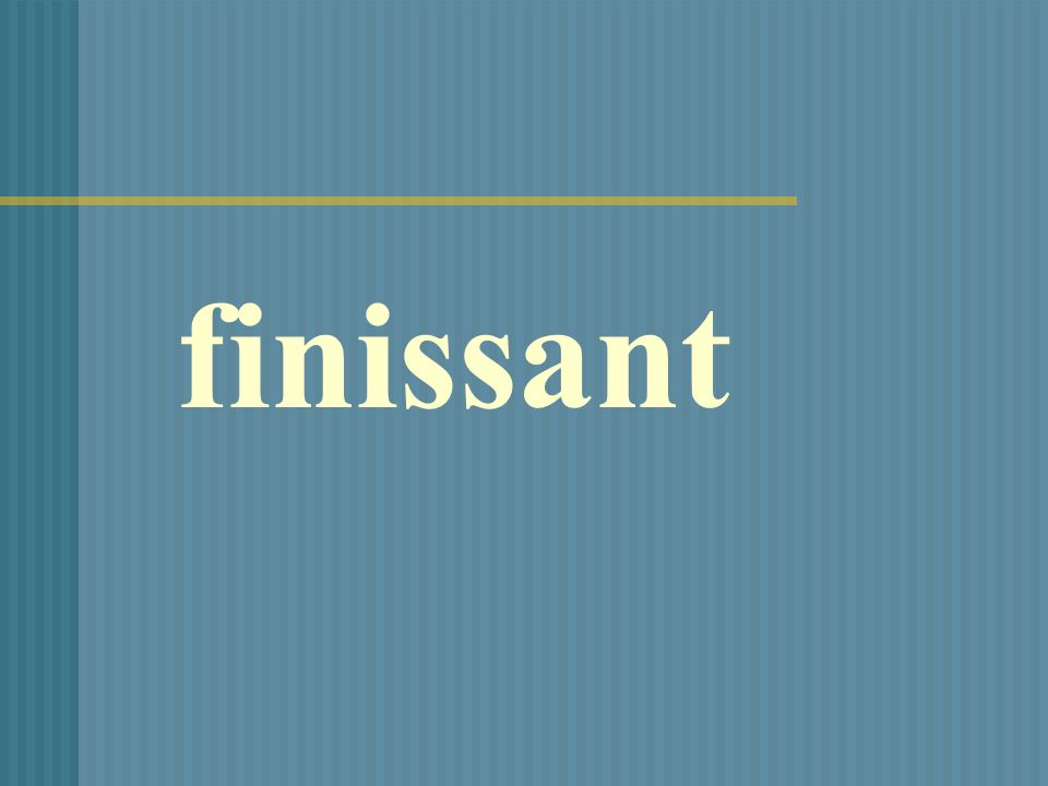 finissant