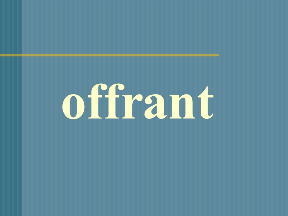 offrant
