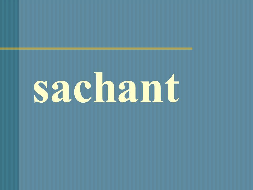 sachant