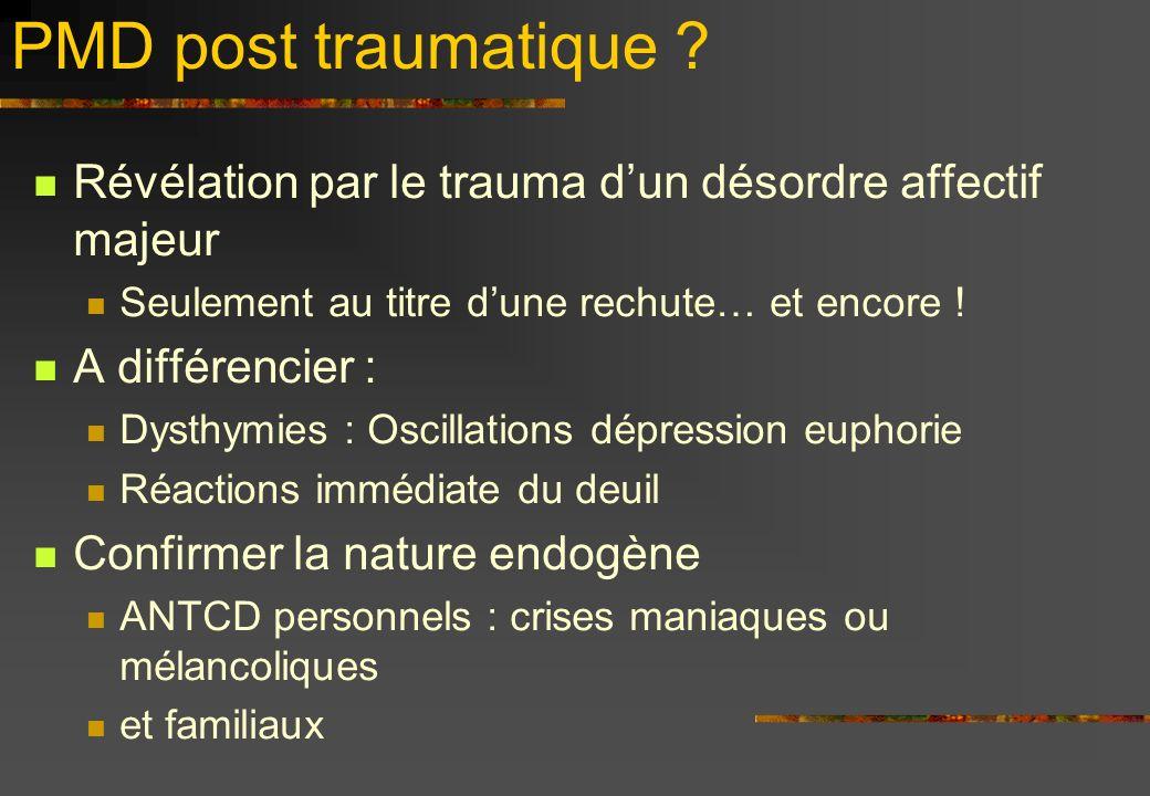 PMD post traumatique .