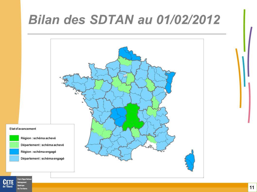 11 Bilan des SDTAN au 01/02/2012