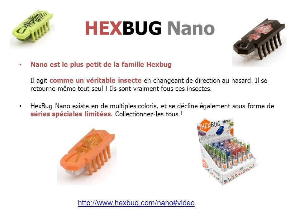 Nano est le plus petit de la famille Hexbug Il agit comme un véritable insecte en changeant de direction au hasard.