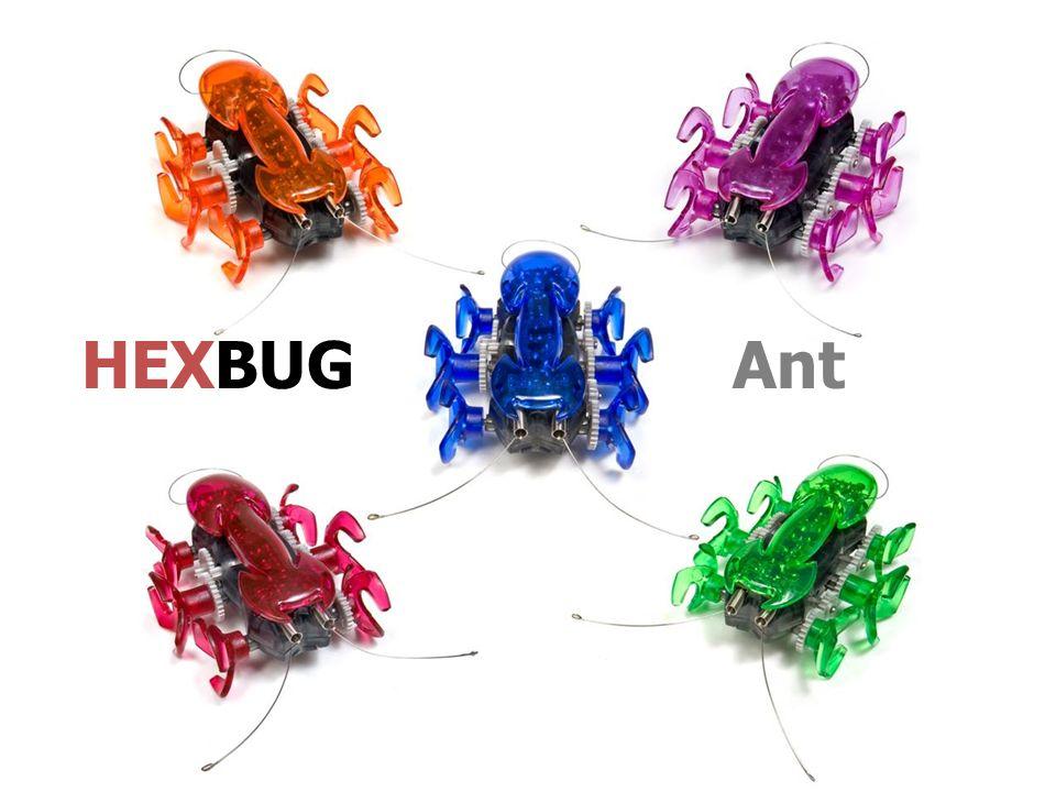 http://www.youtube.com/watch?v=U0nhCRU9OP0&feat ure=player_embedded HEXBUG Ant est un robot insecte intelligent, rapide et surprenant .