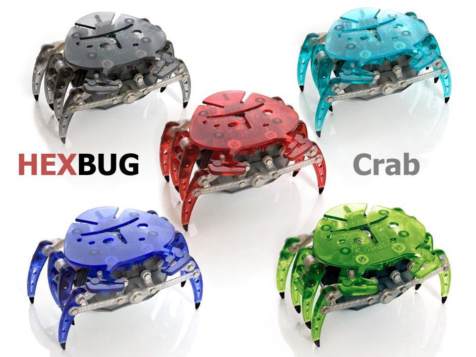 Hexbug Crab est un crabe robotique sensible à son environnement .