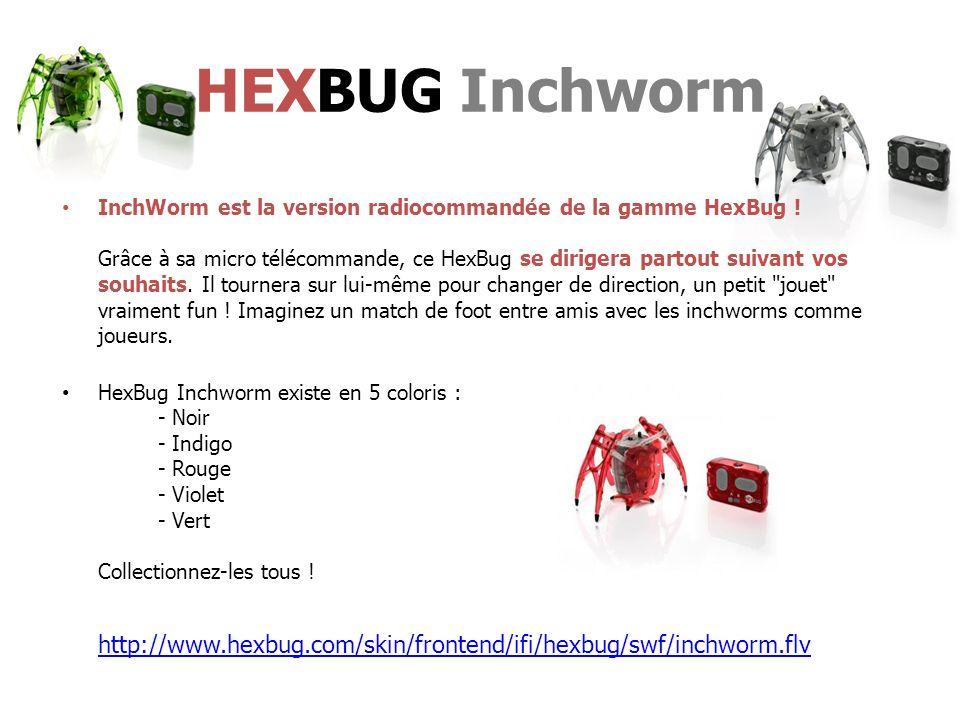 InchWorm est la version radiocommandée de la gamme HexBug .