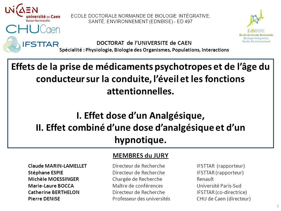 Effets de la prise de médicaments psychotropes et de lâge du conducteur sur la conduite, léveil et les fonctions attentionnelles.