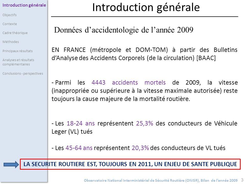 Introduction générale 3 EN FRANCE (métropole et DOM-TOM) à partir des Bulletins dAnalyse des Accidents Corporels (de la circulation) [BAAC] - Parmi le