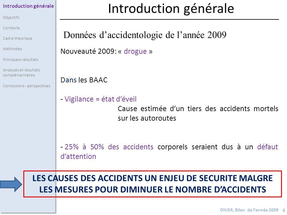 4 Nouveauté 2009: « drogue » Dans les BAAC - Vigilance = état déveil Cause estimée dun tiers des accidents mortels sur les autoroutes - 25% à 50% des