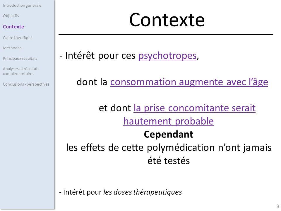 59 - Résultats: * Pas deffet des psychotropes étudié sur les processus attentionnels Les processus attentionnels ne sont pas altérés.