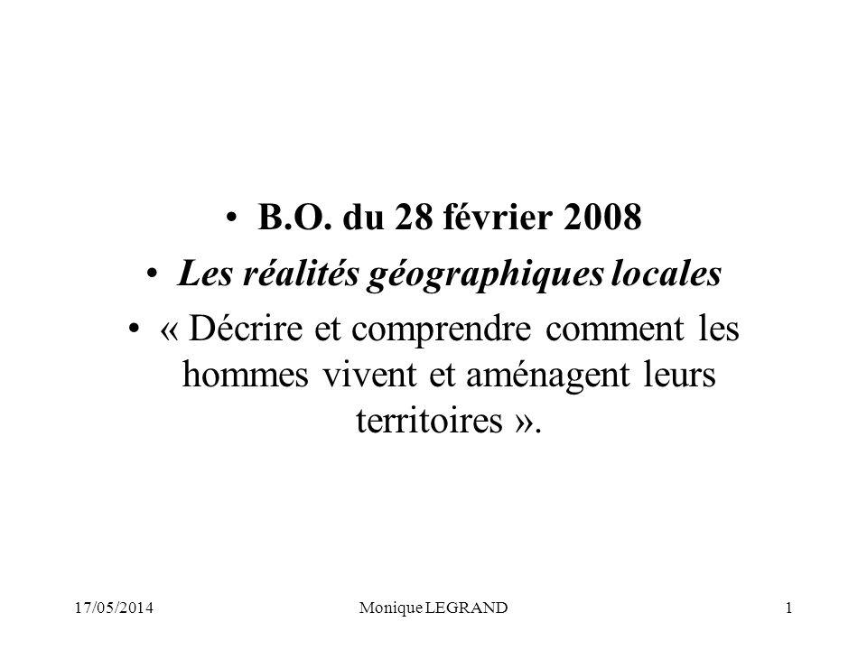 17/05/2014Monique LEGRAND1 B.O.