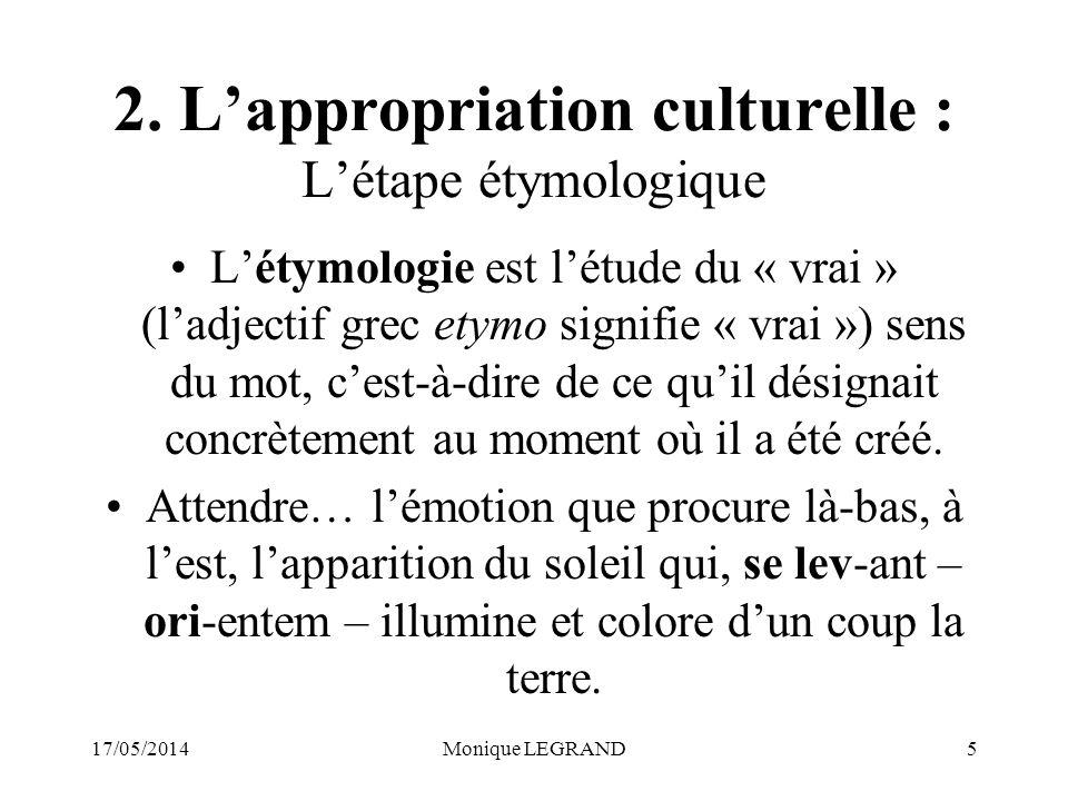 17/05/2014Monique LEGRAND5 2.