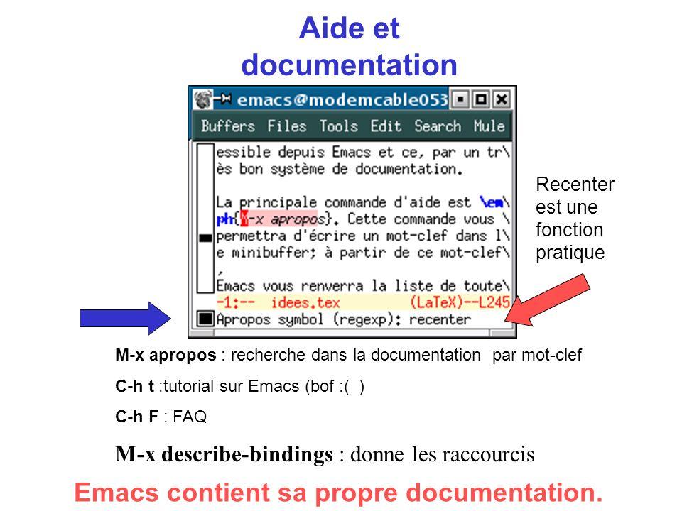 Aide et documentation Emacs contient sa propre documentation.